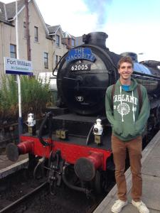 Above: Kevin Studer with the train used for the Hogwarts Express in