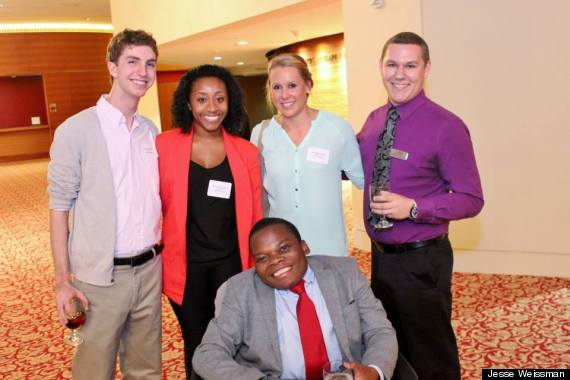 Above: MCN Interns Kevin Studer, Ruth Augustin, Tyne Potgieter, Tyler Casey and Energy Maburutse at Lynn University.