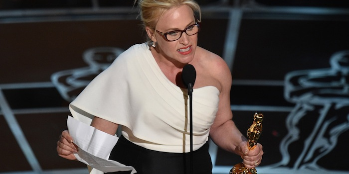 Above: Patricia Arquette speaking on feminism during the Academy Awards. ABC.