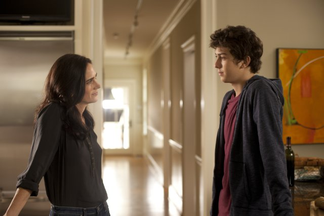 "Above: Jennifer Connelly and Nat Wolff star as mother and son in ""Stuck in Love."" Stock Photo."