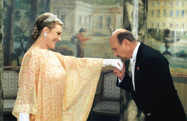 Above: Julie Andrews exerting elegance as Queen Clarisse Renaldi in