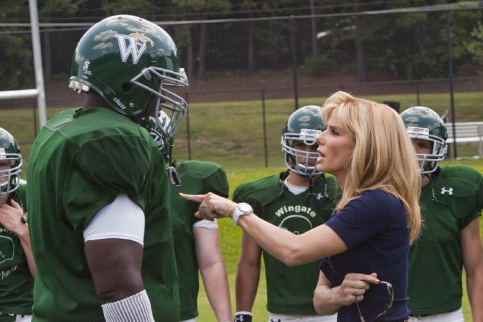 "Above: Sandra Bullock proves why she won the Oscar in ""The Blind Side."" Stock Photo."