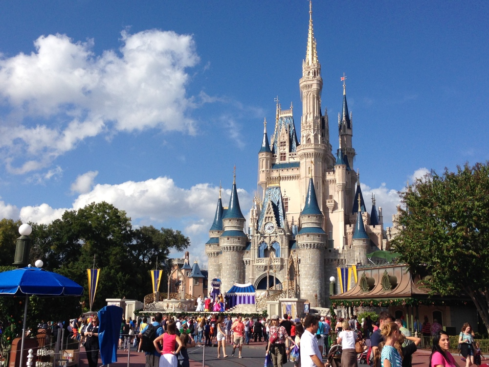 Above: Cinderella's Castle is at the heart of the Magic Kingdom in Disney World. K.Studer.